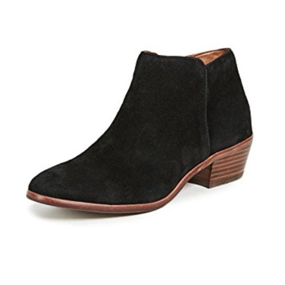 Sam Edelman Shoes - Sam Edelman Petty Chelsea Booties | Black Suede